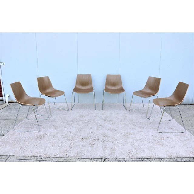Mid-Century Modern Style Allermuir Curve Dining or Stacking Side Chairs- Set of 6 For Sale - Image 13 of 13