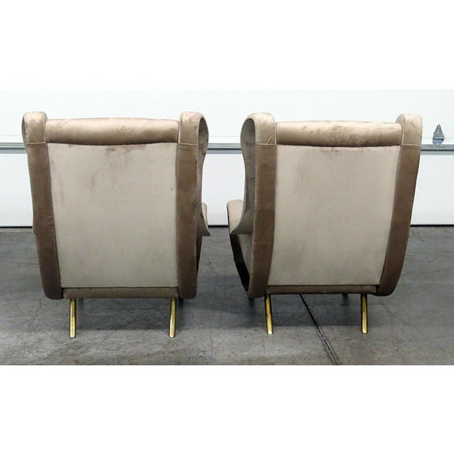Pair of Italian Modern Lounge Chairs For Sale In Philadelphia - Image 6 of 9