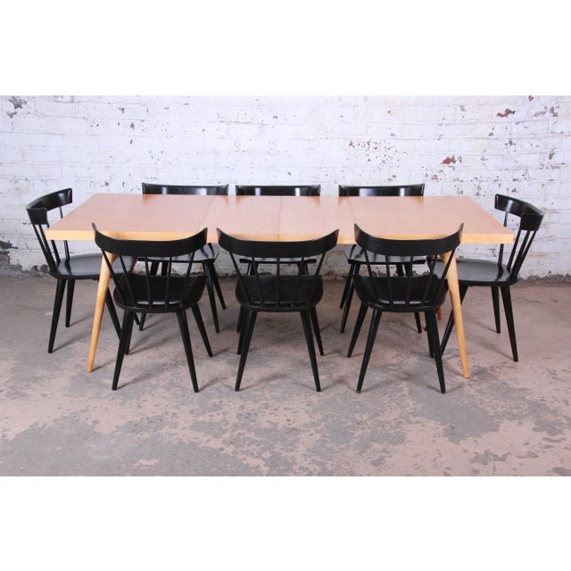 1950s Paul McCobb Planner Group Maple Extension Dining Table For Sale - Image 11 of 13