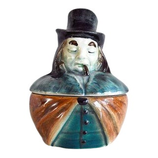 1900s Austrian Figurative Porcelain Tobacco Jar / Humidor For Sale