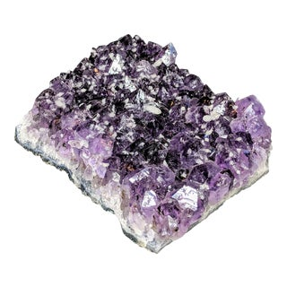 Large Vintage Frosted Amethyst Specimen For Sale