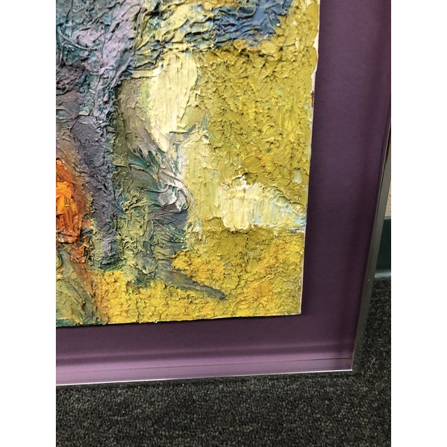 Original Abstract Textured Painting by Philip Dizick For Sale - Image 4 of 9