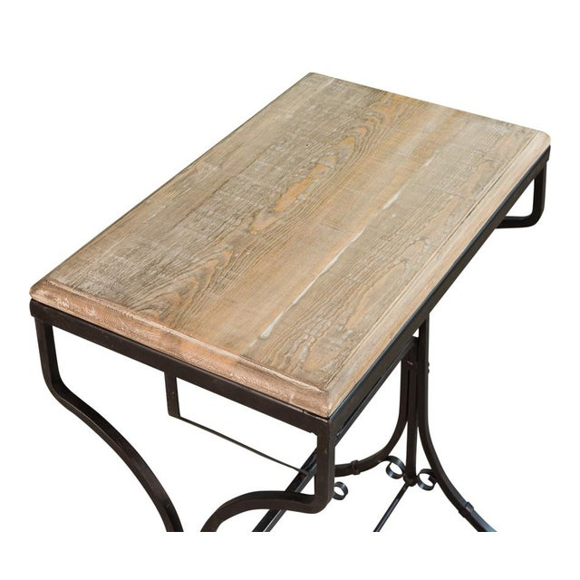 Sarreid Ltd. Reclaimed Wood Bistro Table For Sale - Image 4 of 6