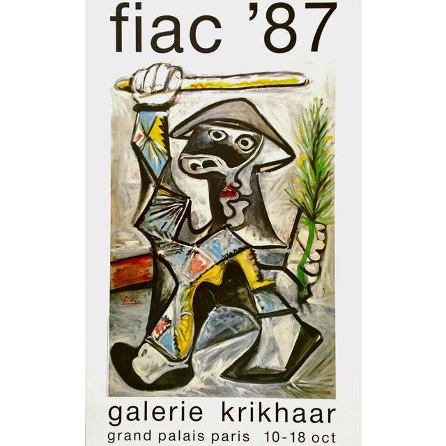 1987 Arlequin Au Baton Exhibition Poster for Pablo Picasso For Sale