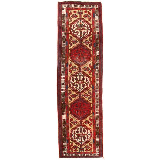 """2010s Pasargad N Y Antique Persian Serab Wool Runner Rug - 3'2"""" X 11'3"""" For Sale - Image 5 of 5"""