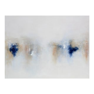 Blue Neutral Abstract Art Painting