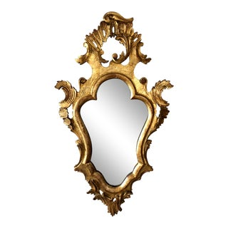Antique Hand Carved Gold Gilt Italian Mirror For Sale
