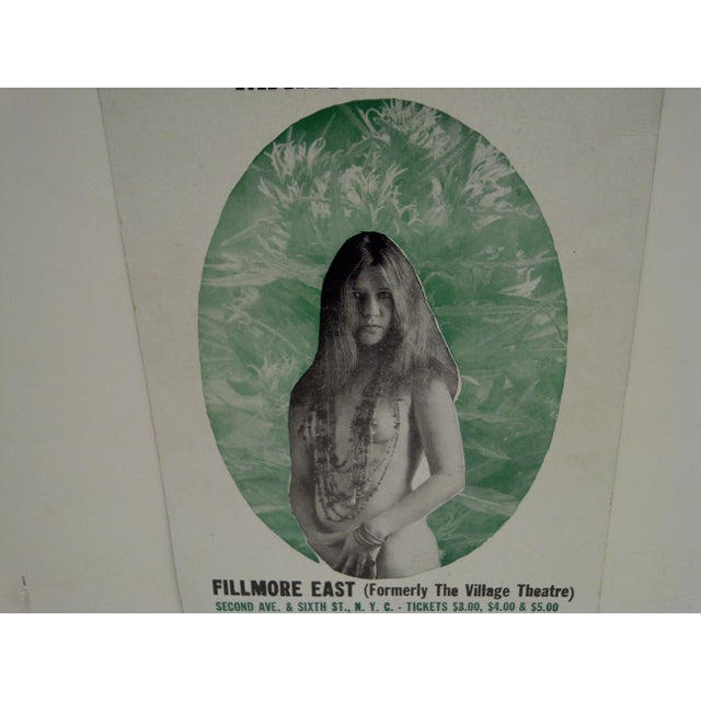March 8, 1968 Janis Joplin Filmore East Theatre Concert Poster For Sale In Pittsburgh - Image 6 of 6