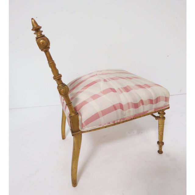 Late 1800s American Aesthetic Movement Giltwood Slipper Chair For Sale - Image 12 of 13