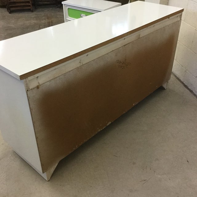 Mid Century Lime Green & White 9 Drawer Dresser For Sale - Image 9 of 13