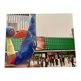 """""""Nikki De Saint Phalle at La Defense, Paris"""" Contemporary Plein Air Architectural Photograph Print by Louise Weinberg For Sale"""
