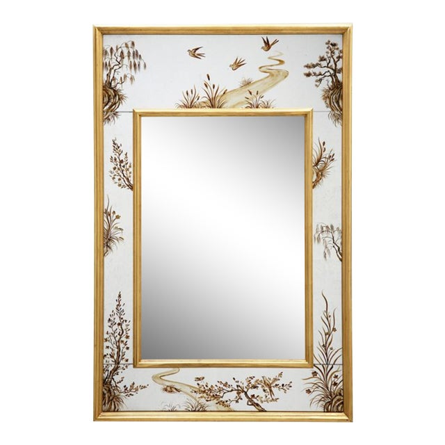 Made Goods Asian Chinoiserie Eloise Wall Mirror For Sale