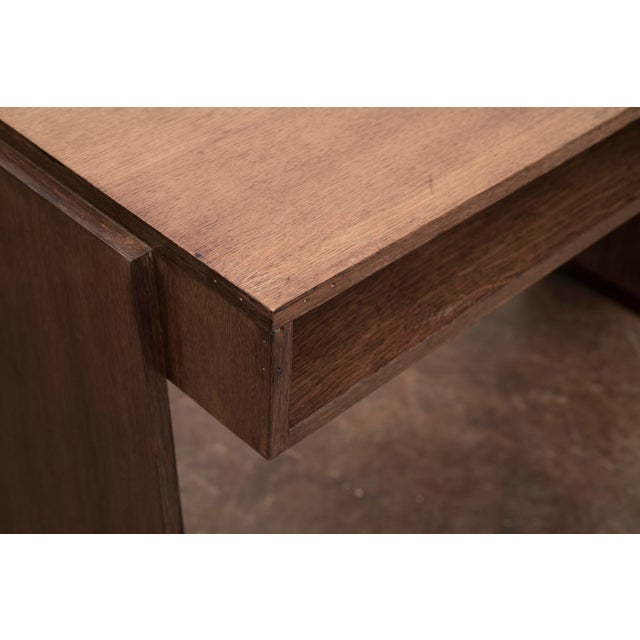 1950s Handsome French Modernist Desk in Walnut, 1950s For Sale - Image 5 of 12