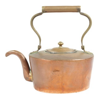 Antique Copper Kettle For Sale