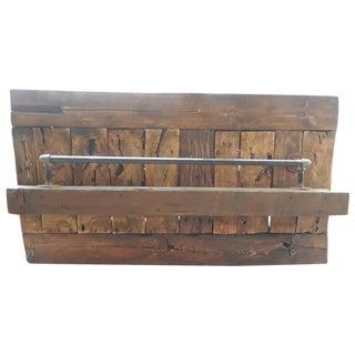 Reclaimed Barn Wood Hanging Wine Rack