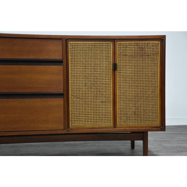 Kipp Stewart for Calvin Walnut Dresser Vanity For Sale - Image 11 of 12