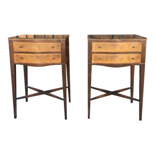 1940s Italian Bronze Nightstands - a Pair For Sale