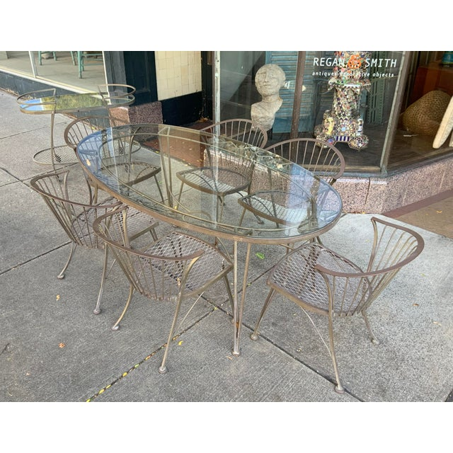 1950s Vintage Woodard Pinecrest Dining Table and Chairs With Bar Cart - 8 Pieces For Sale In New York - Image 6 of 8
