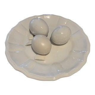 Porcelain Italian Eggs Plate For Sale
