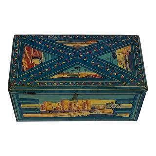 1920s Monarch Tin Decorative Box For Sale