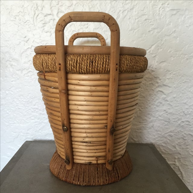 1970s Rattan Bucket - Image 9 of 9