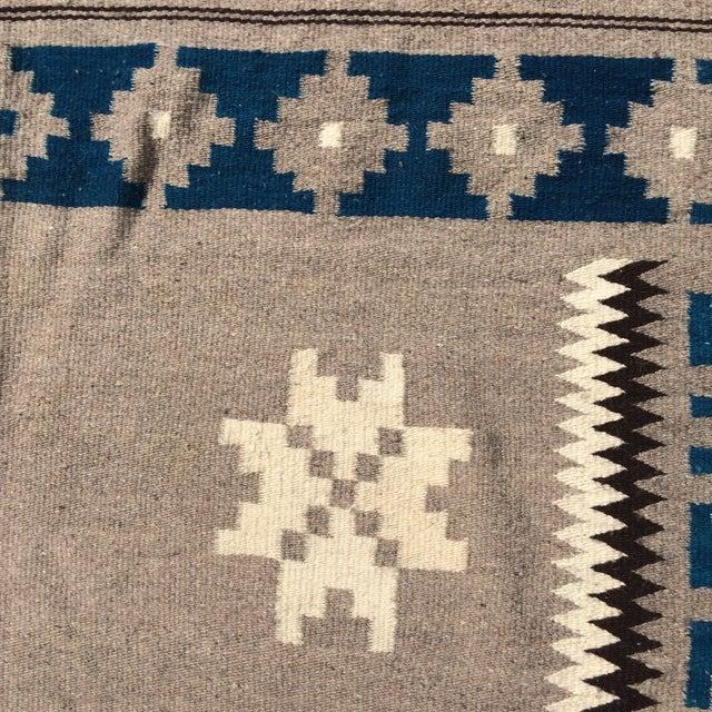 """Vintage Navajo Style Blanket Rug - 4'9"""" X 9"""" - Image 4 of 10"""