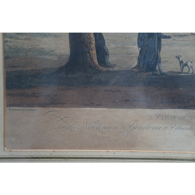 Early 20th Century Antique English Vauxhall Painted Engraving For Sale - Image 9 of 10