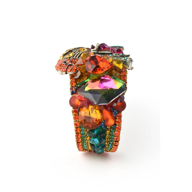 Contemporary Wendy Gell Parrot Cuff Bracelet For Sale - Image 3 of 9