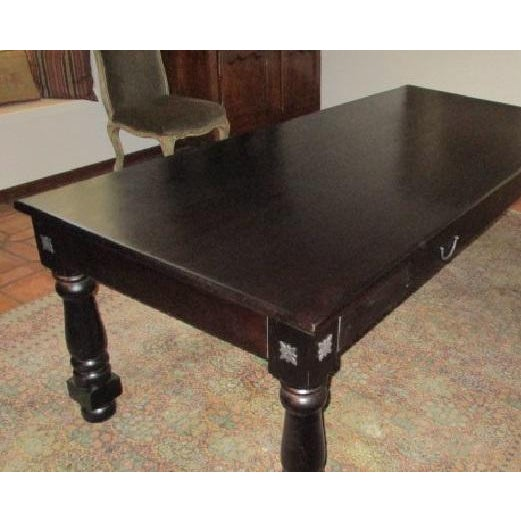 Dining Table Rectangular Rustic Modern Farm Style Seats 8 For Sale - Image 4 of 8