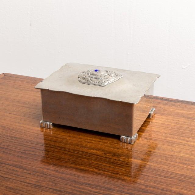 Danish Art Deco Silver Keepsake Box For Sale In New York - Image 6 of 6