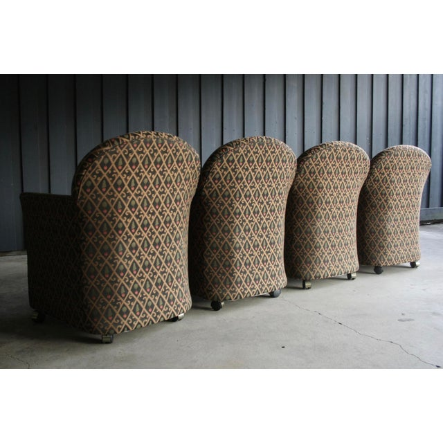 1980s Contemporary Armchairs, Set of 4 For Sale - Image 4 of 13