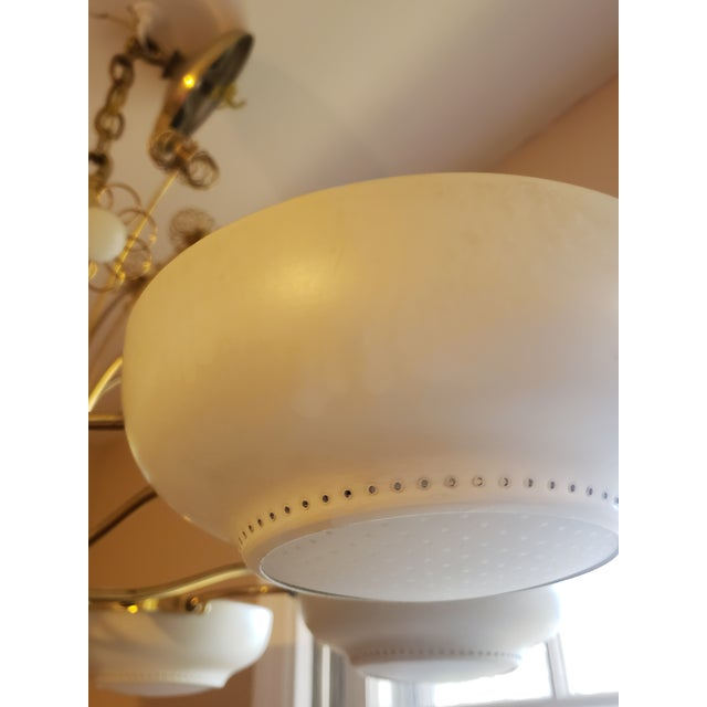 1950s Mid-Century Modern Lightolier Chandelier After Paavo Tynell For Sale - Image 11 of 13