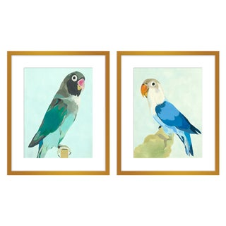 "Large ""Arlo & Ernest, a Pair"" Print by Neicy Frey, 50"" X 31"" For Sale"