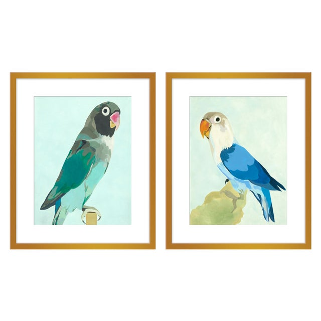 """Large """"Arlo & Ernest, a Pair"""" Print by Neicy Frey, 50"""" X 31"""" For Sale"""