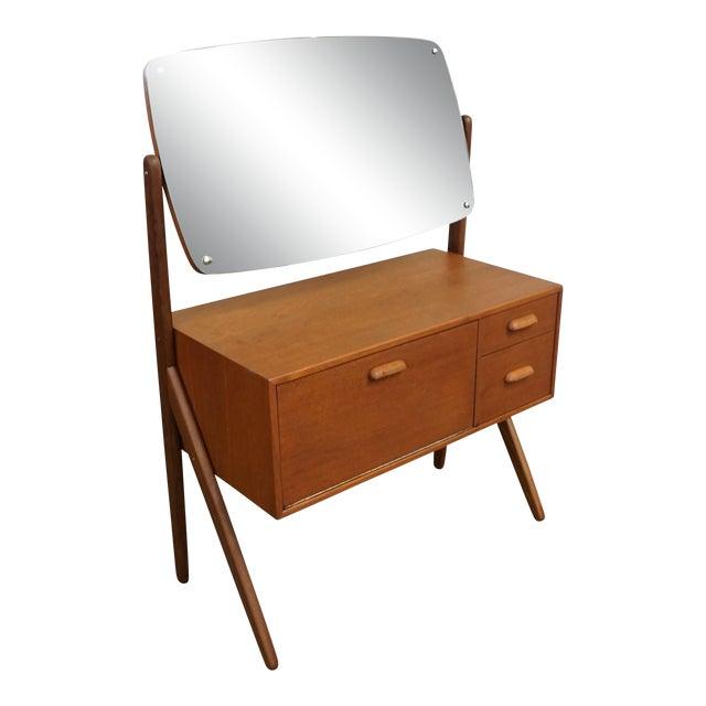 Original Danish Mid Century Modern Teak Dressing Table Bjorno