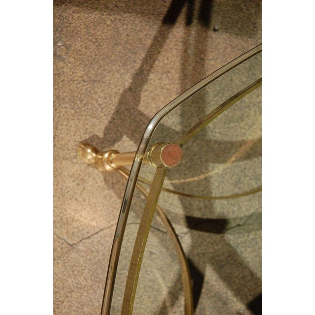 Gold Polished Brass and Glass Octagonal Coffee Table, La Barge For Sale - Image 8 of 9