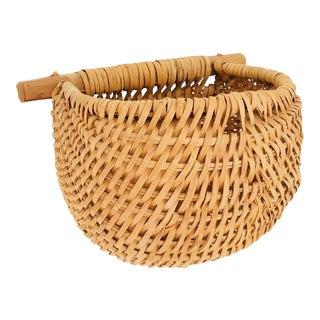 Vintage Wall Pocket Basket For Sale