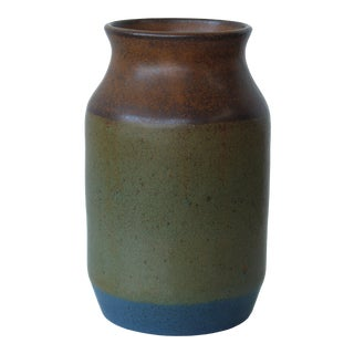 1960s Signed Studio Pottery Vase For Sale