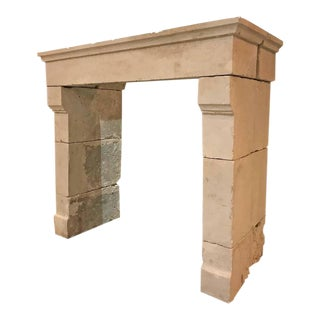 Louis iii Antique Limestone Mantel