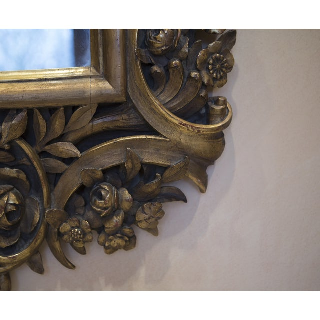 Carved Wood Mirror With Gilt Finish - Image 8 of 8