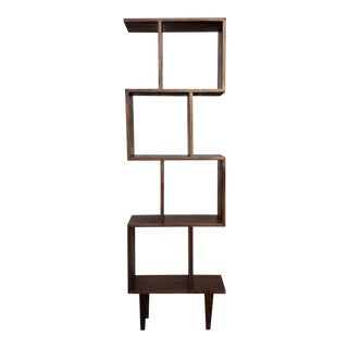 Mid-Century Modern Walnut Bookshelf For Sale