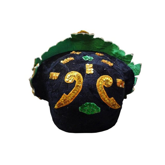 Asian Vintage Thai Ceremonial Mask For Sale - Image 3 of 3