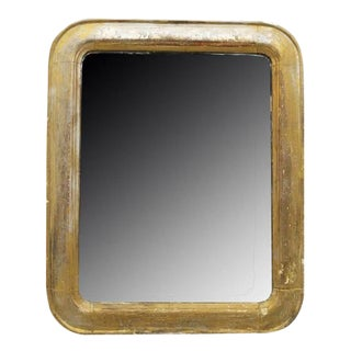 Charles X Style Gold Painted Plaster Wall Mirror For Sale