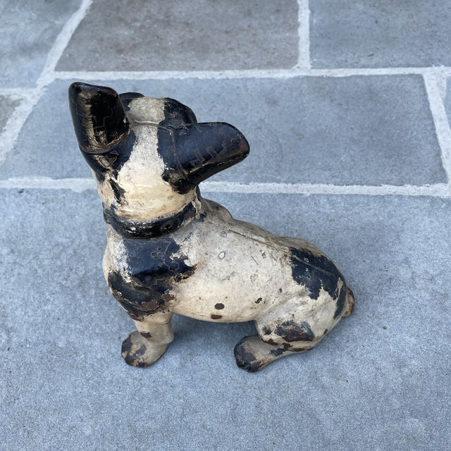 American Early 20th Century Hubley Style Iron French Bulldog For Sale - Image 3 of 7