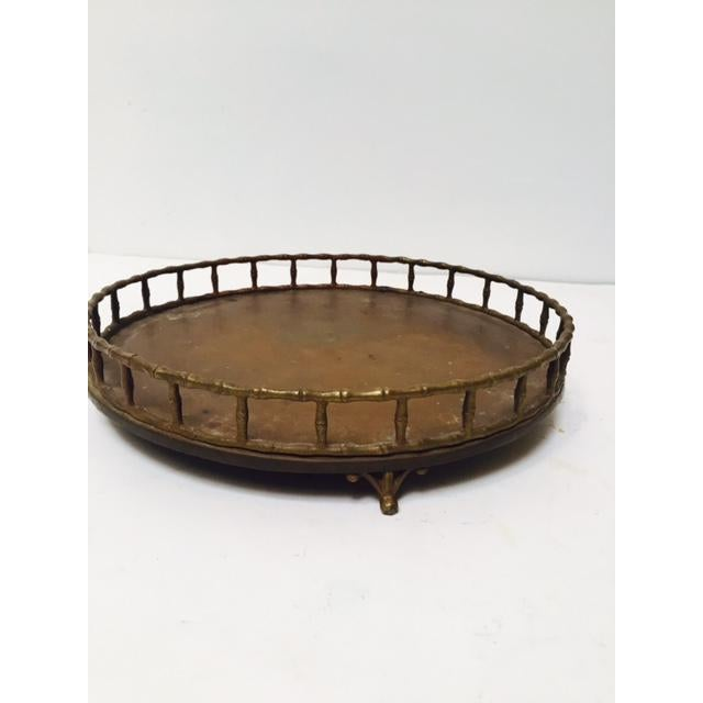 Boho Chic Bamboo Edge Brass Tray - Image 2 of 5