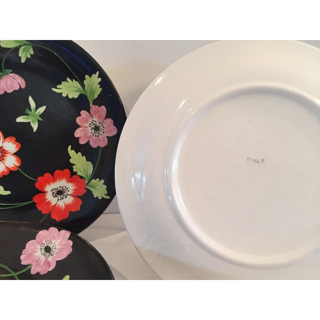 This fabulous set of 6 vintage Italian hand-painted Porcelain plates are great to use, display, mix with other dishes....