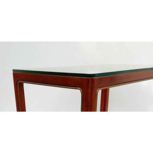 Orange Vintage Kindel Asian Chinese Orange Lacquer Tea Table For Sale - Image 8 of 11