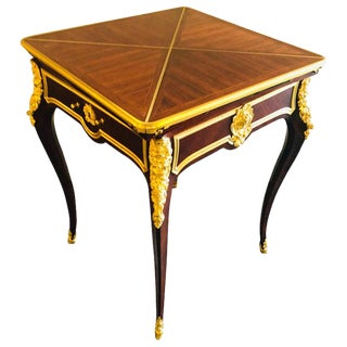 19th Century French Ormolu Folding Card Envelope Table, Signed P. Sormani For Sale