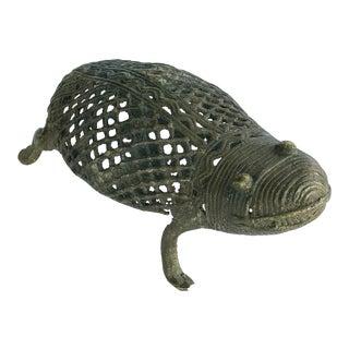 "Superb Lobi Tribe Bronze Turtle Burkina Faso Africa 6"" W For Sale"