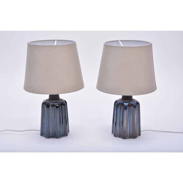 Ceramic Ceramic Table Lamps by Soholm Stentoj, 1970s - a Pair For Sale - Image 7 of 7